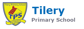 Tilery School Logo Black and White image